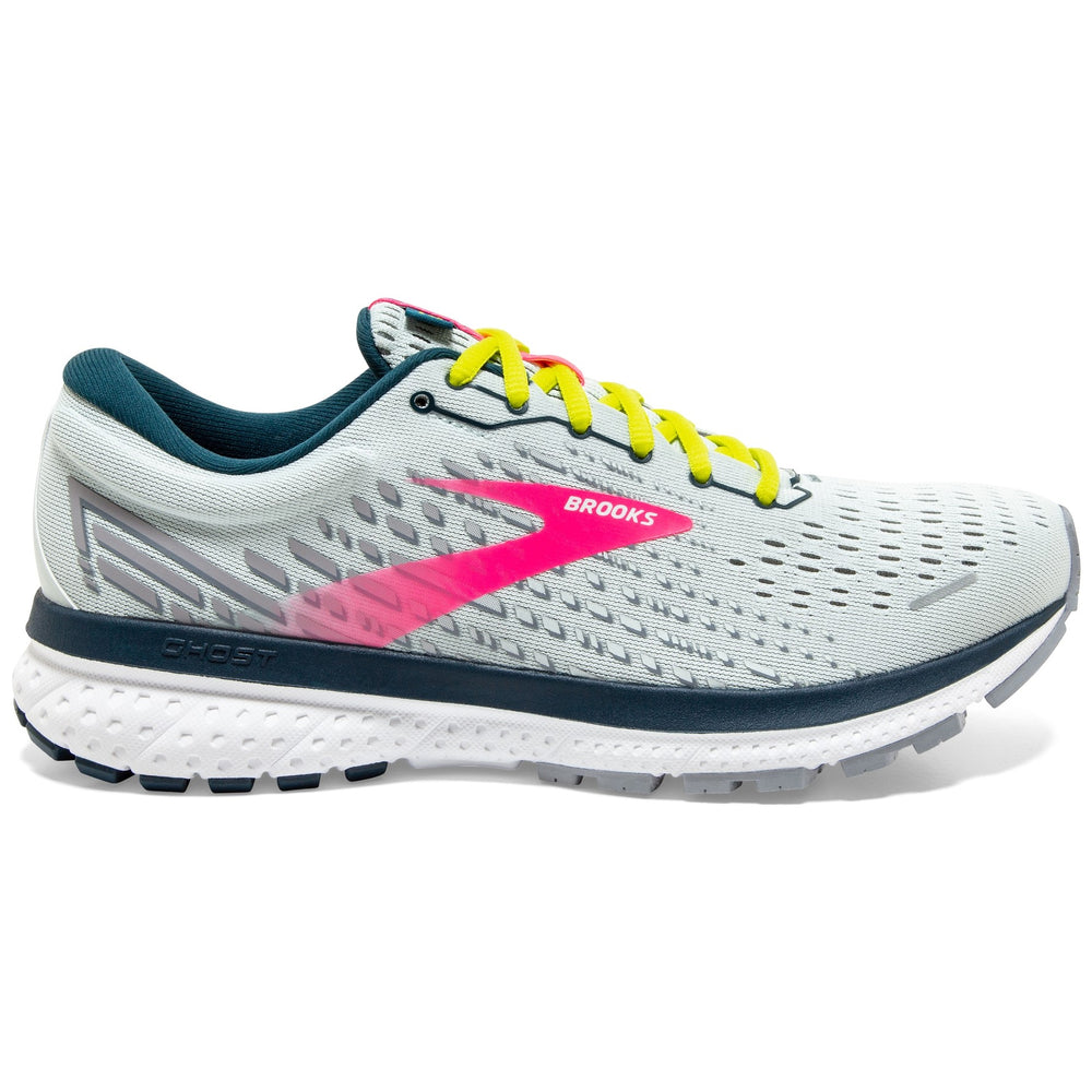 Brooks Women's Ghost 13 Running Shoes Ice Flow / Pink / Pond - achilles heel