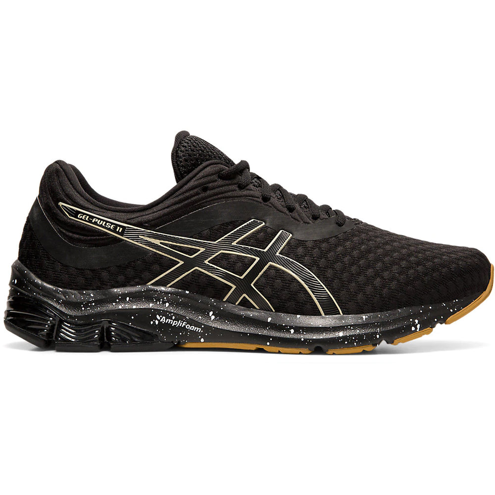 Asics Men's Pulse 11 Winterized Running Shoes Black / Putty - achilles heel