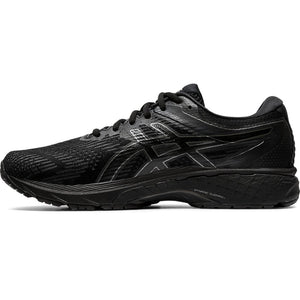 Asics Men's GT-2000 8 2E Width Running Shoes Black / Black - achilles heel
