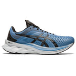 Asics Men's Novablast Running Shoes Grey Floss / Black - achilles heel