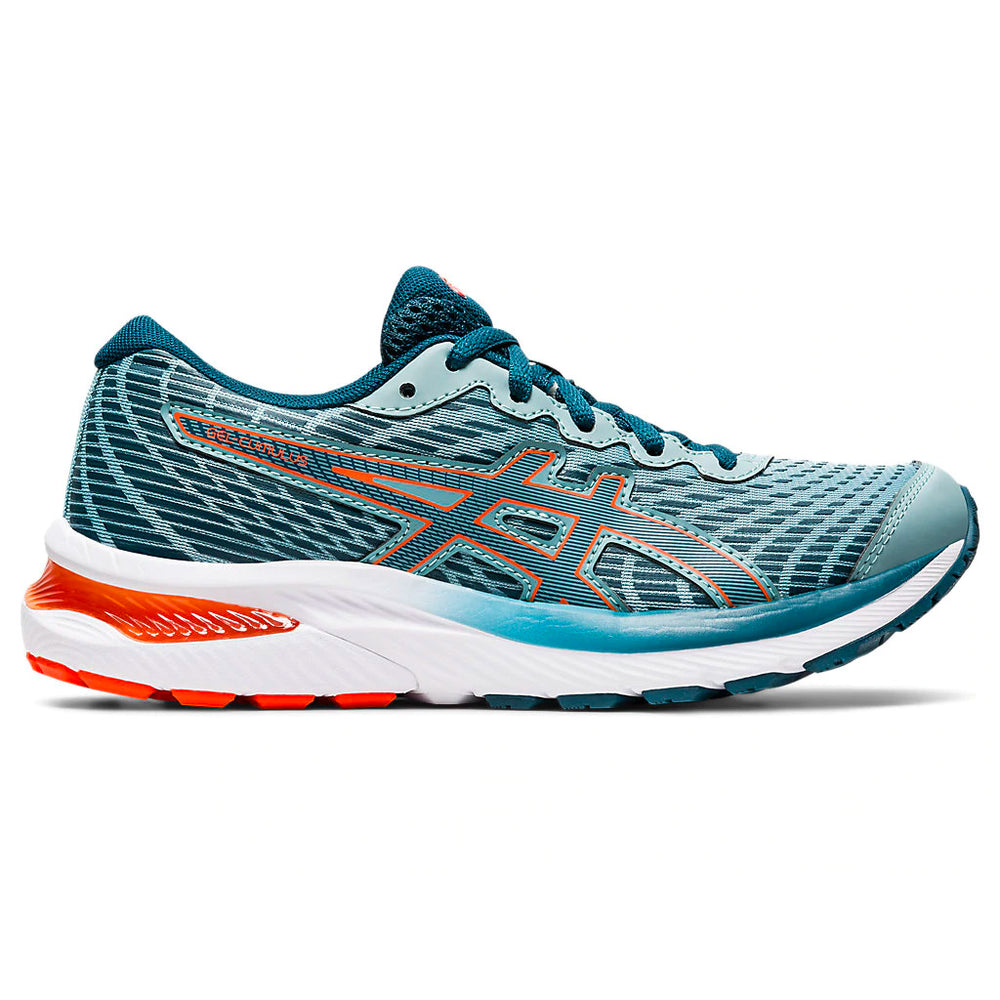 Asics Kids Gel Cumulus 22 GS Running Shoes Light Steel / Magnetic Blue - achilles heel