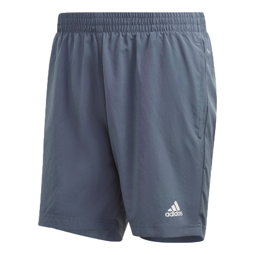 Adidas Men's Run It PB 5 Inch Short Legacy Blue - achilles heel