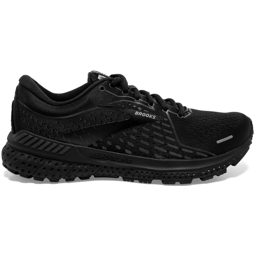 Brooks Men's Adrenaline GTS 21 Running Shoes Black / Black / Ebony - achilles heel