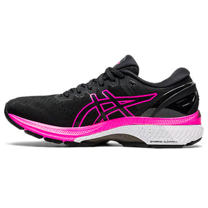 Asics Women's Gel-Kayano 27 Running Shoes Black / Pink Glo - achilles heel
