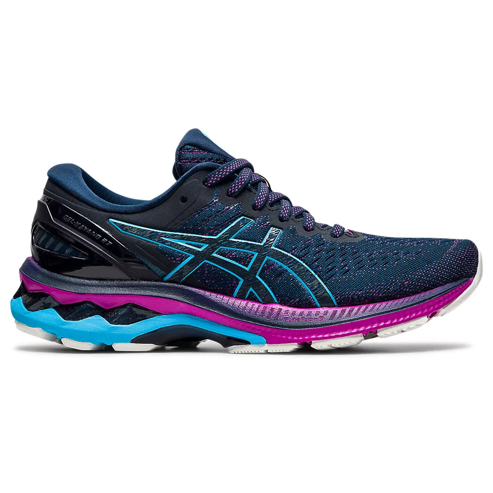 Asics Women's Gel-Kayano 27 Running Shoes French Blue / Digital Aqua - achilles heel