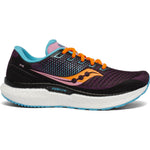 Saucony Women's Triumph 18 Running Shoes Future Black - achilles heel