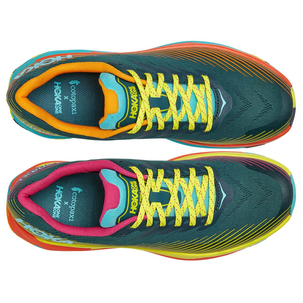 Hoka x Cotopaxi Torrent 2 Trail Running Shoes Mallard Green / Evening Primrose - achilles heel