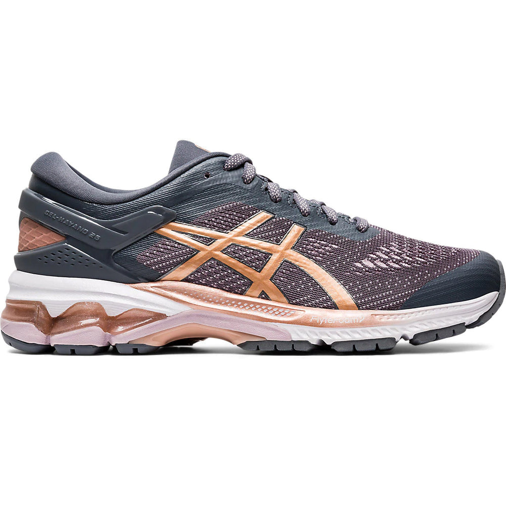 Asics Women's Gel-Kayano 26 Running Shoes Metropolis / Rose Gold - achilles heel