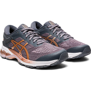 Asics Women's Gel Kayano 26 Running Shoes Metropolis / Rose Gold - achilles heel