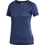 adidas Women's Rise Up And Run Tee Indigo - achilles heel