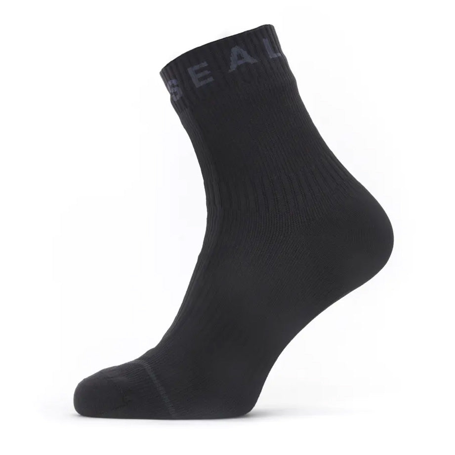 SealSkinz All Weather Waterproof Ankle Length Sock with Hydrostop Black / Grey - achilles heel