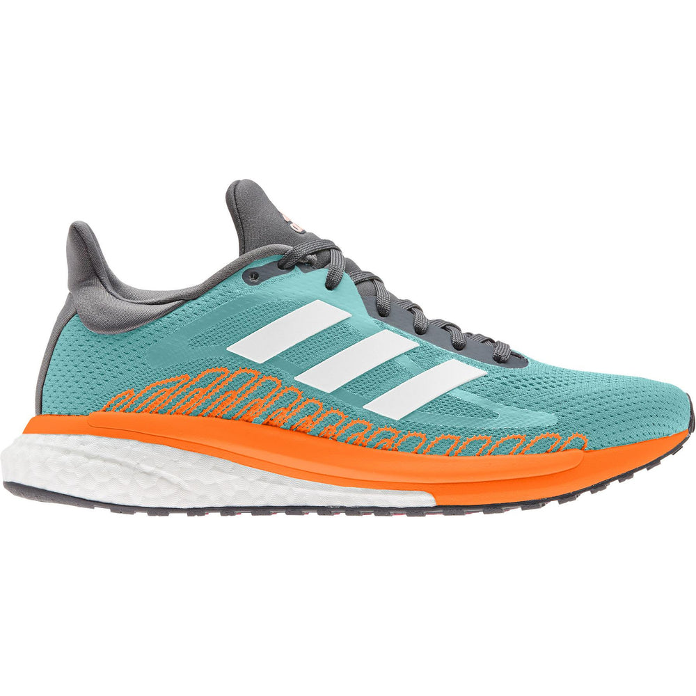 Adidas Women's Solar Glide ST 3 Running Shoes Frost Mint / White / Pink Tint - achilles heel