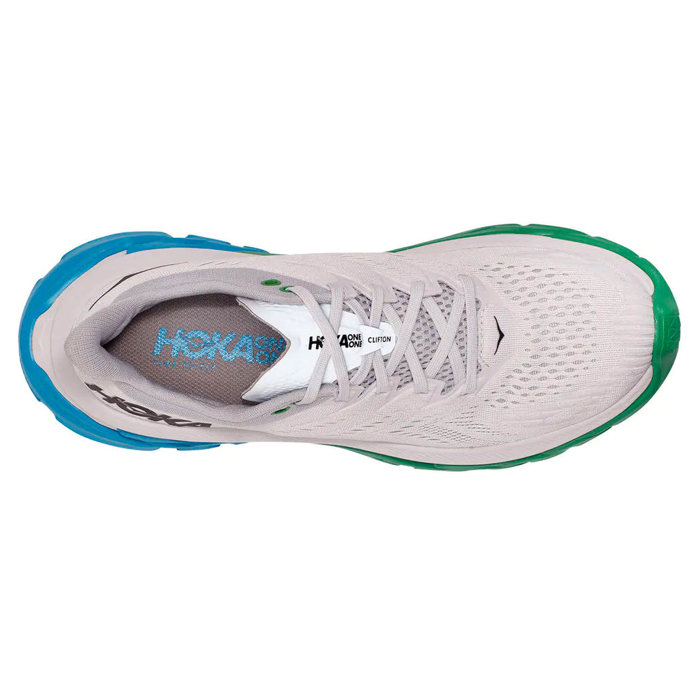 Hoka Men's Clifton Edge Running Shoes Nimbus Cloud / Greenbriar - achilles heel