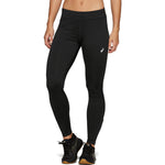 Asics Women's Silver Winter Tight Black - achilles heel