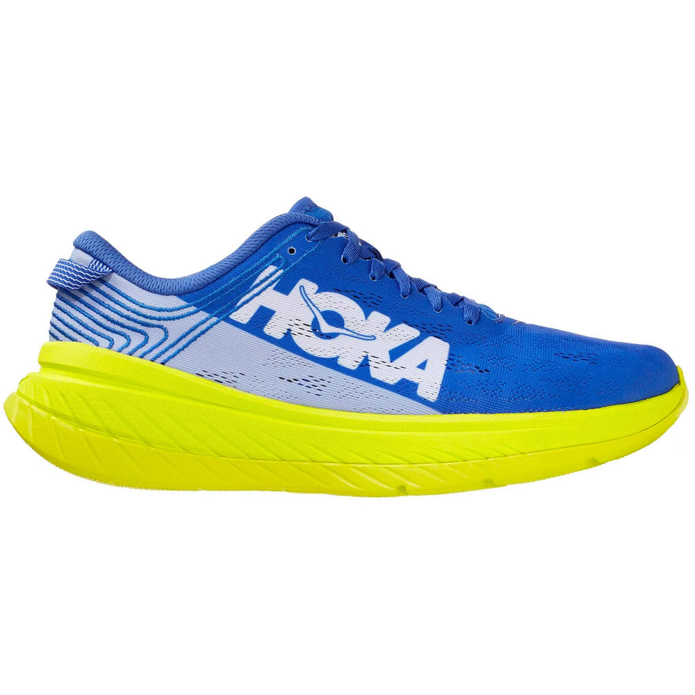 Hoka Men's Carbon X Running Shoes Amparo Blue / Evening Primrose - achilles heel