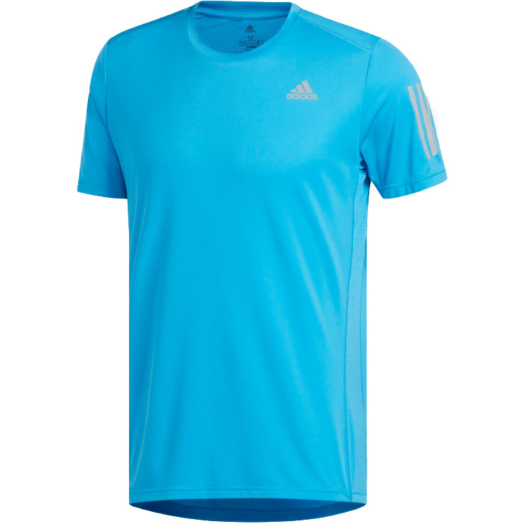 adidas Men's Own The Run Tee Cyan