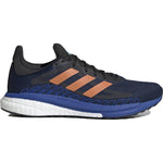adidas Men's Solar Glide ST 3 Running Shoes Collegiate Navy / Signal Orange / Royal Blue - achilles heel