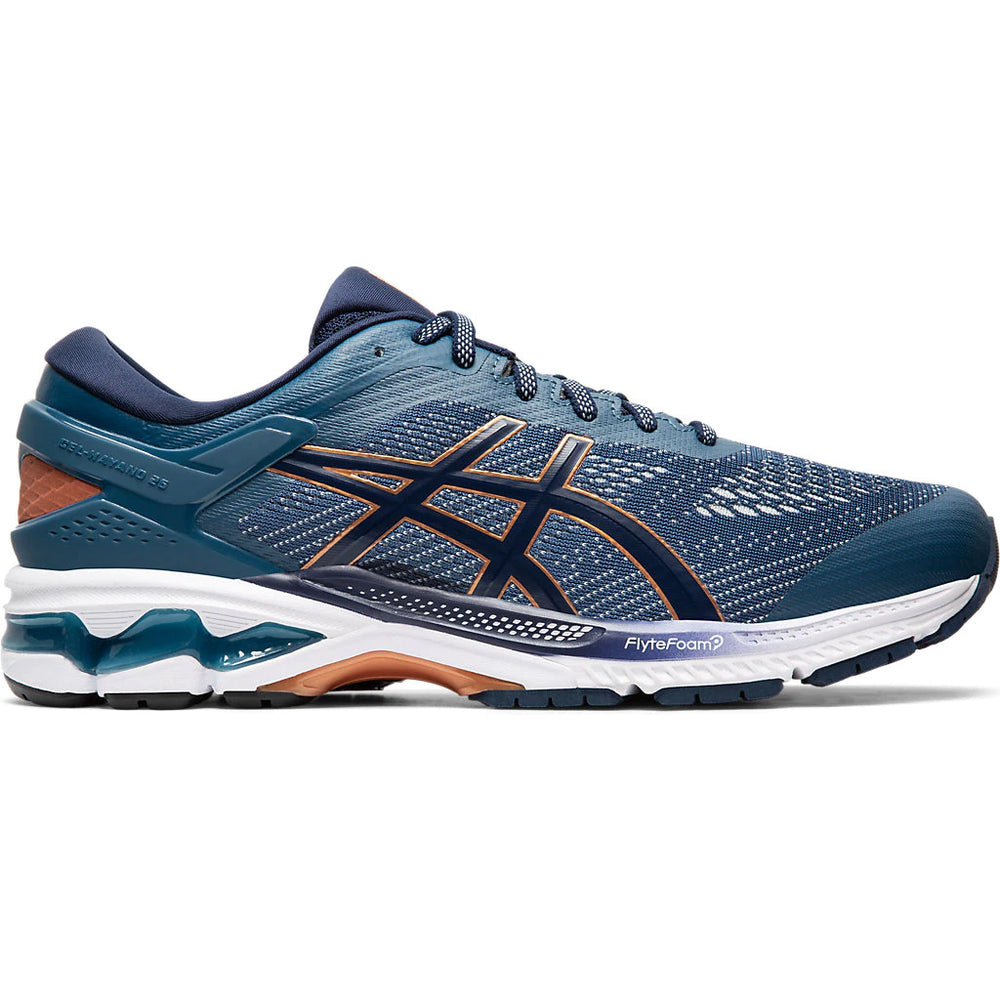 Asics Men's Gel Kayano 26 Running Shoes Grand Shark / Peacoat