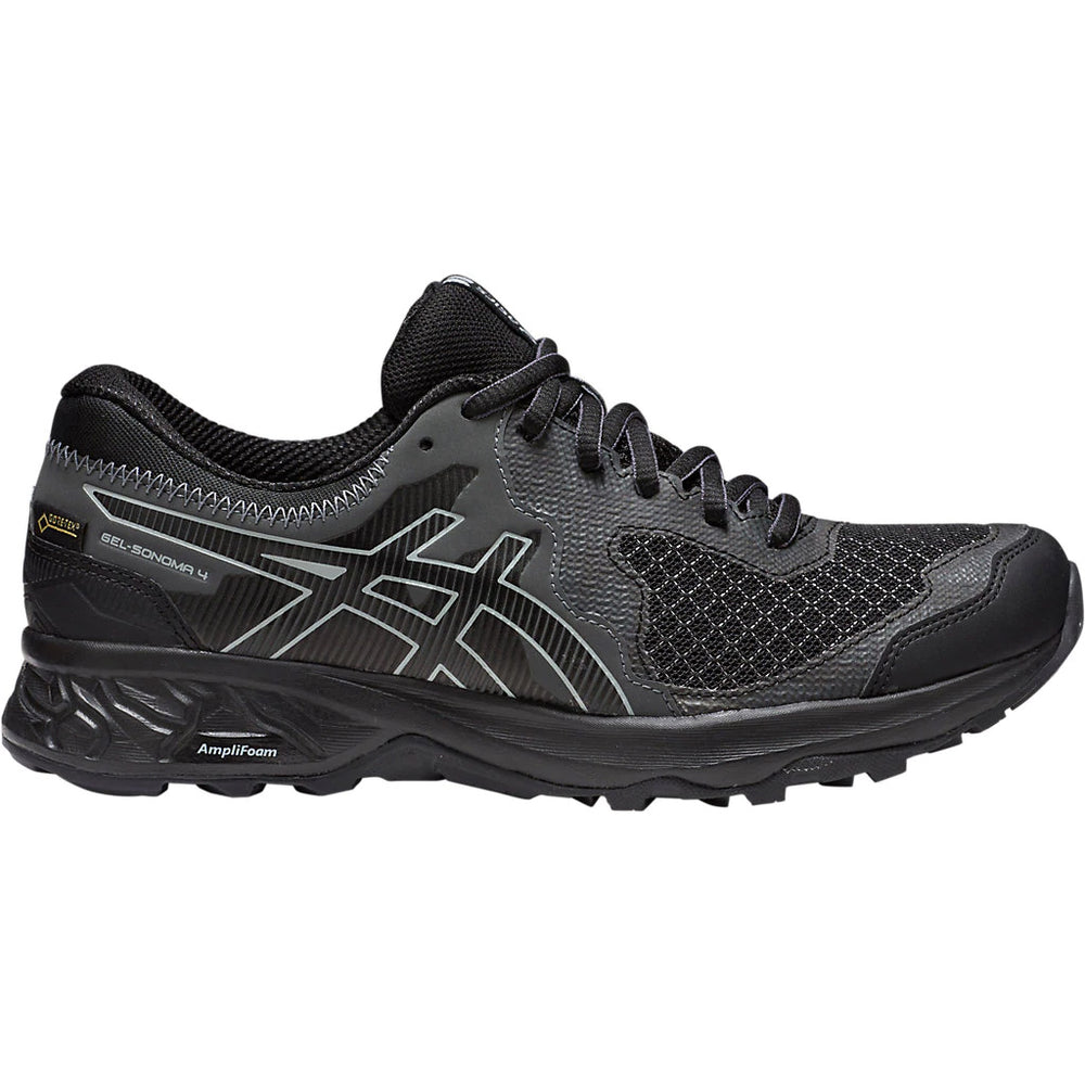 Asics Women's Gel Sonoma 4 GORE-TEX Trail Running Shoes Black / Stone Grey - achilles heel
