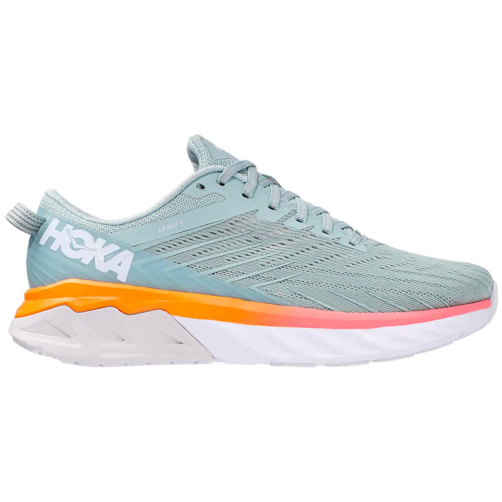 Hoka Women's Arahi 4 Running Shoes Blue Haze / Lunar Rock - achilles heel
