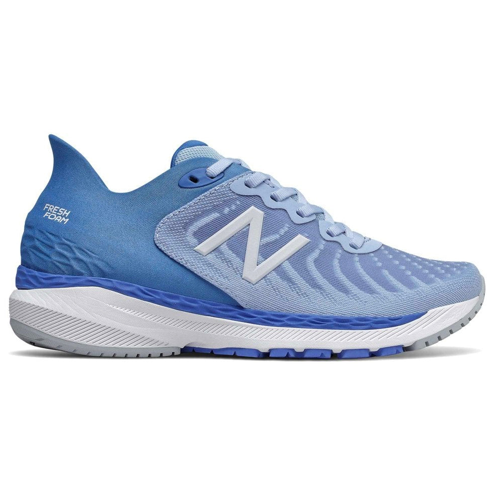 New Balance Women's 860v11 Running Shoes Frost Blue / Faded Cobalt - achilles heel