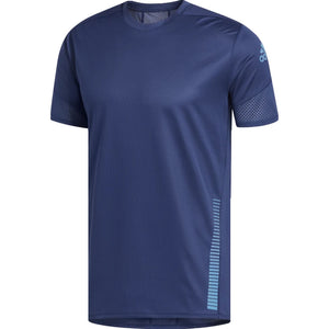 adidas Men's Rise Up And Run Tee Indigo - achilles heel