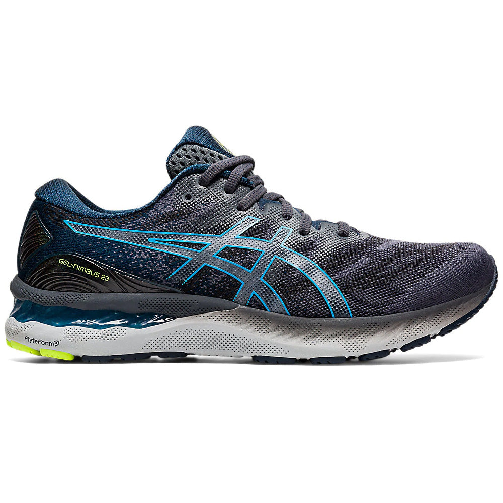 Asics Men's Gel-Nimbus 23 Running Shoes Carrier Grey / Digital Aqua - achilles heel