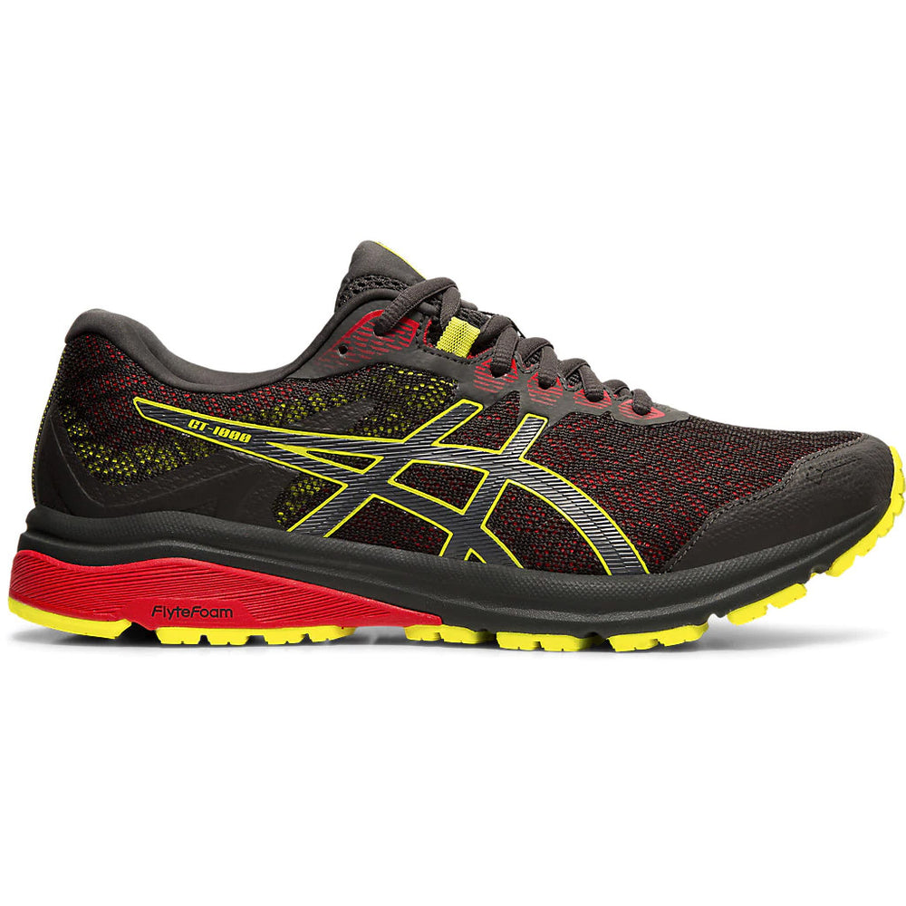 Asics Men's GT 1000 8 GORE-TEX Running Shoes Graphite Grey / Sour Yuzu - achilles heel