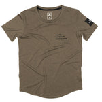SAYSKY Workout Tee Light Brown - achilles heel