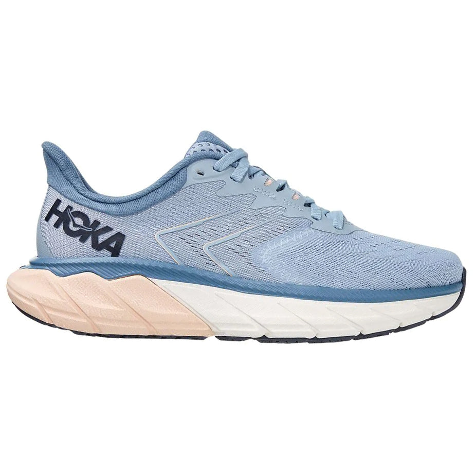 Hoka Women's Arahi 5 Wide Fit Running Shoes Blue Fog / Provincial Blue - achilles heel