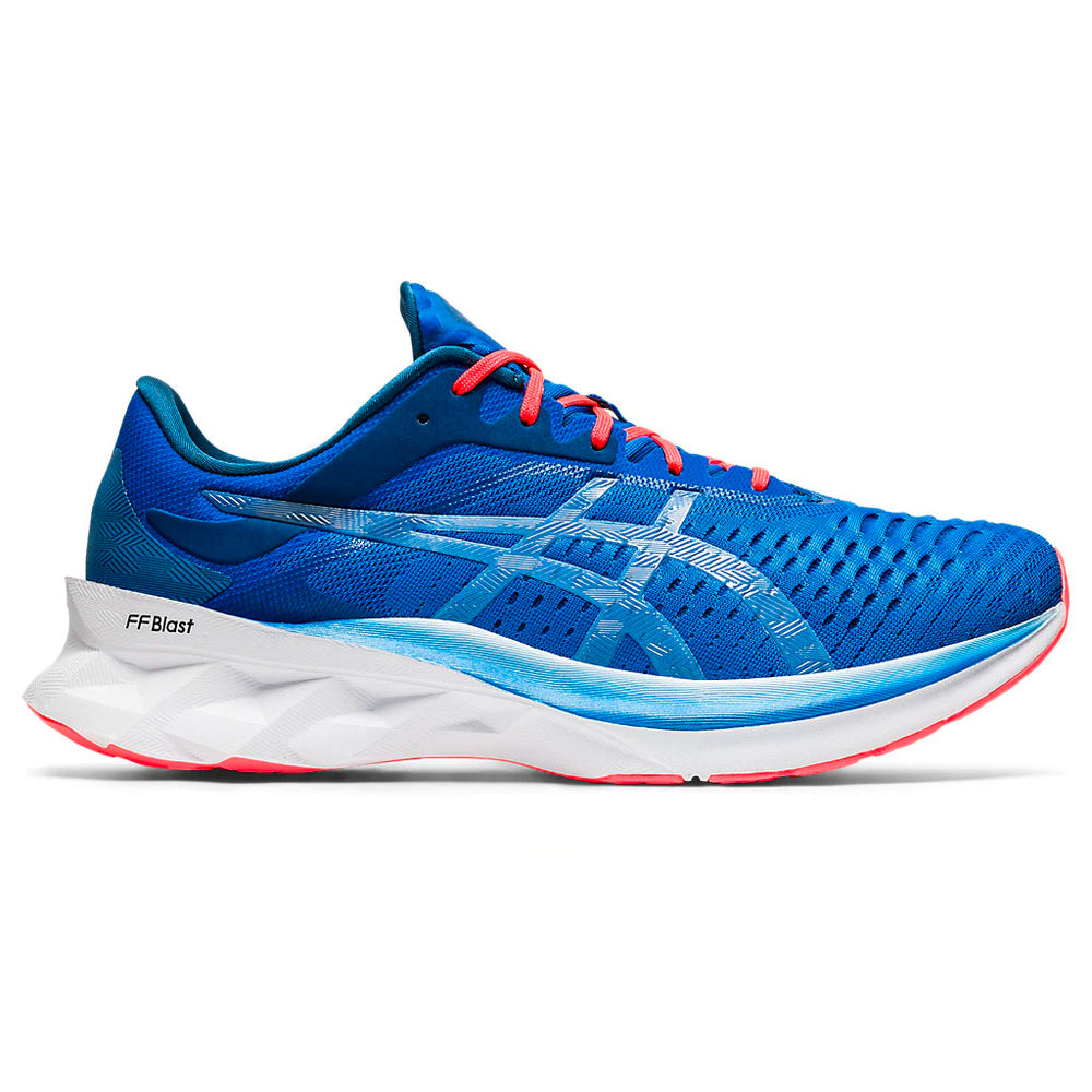 Asics Men's Novablast Running Shoes Directoire Blue / White - achilles heel