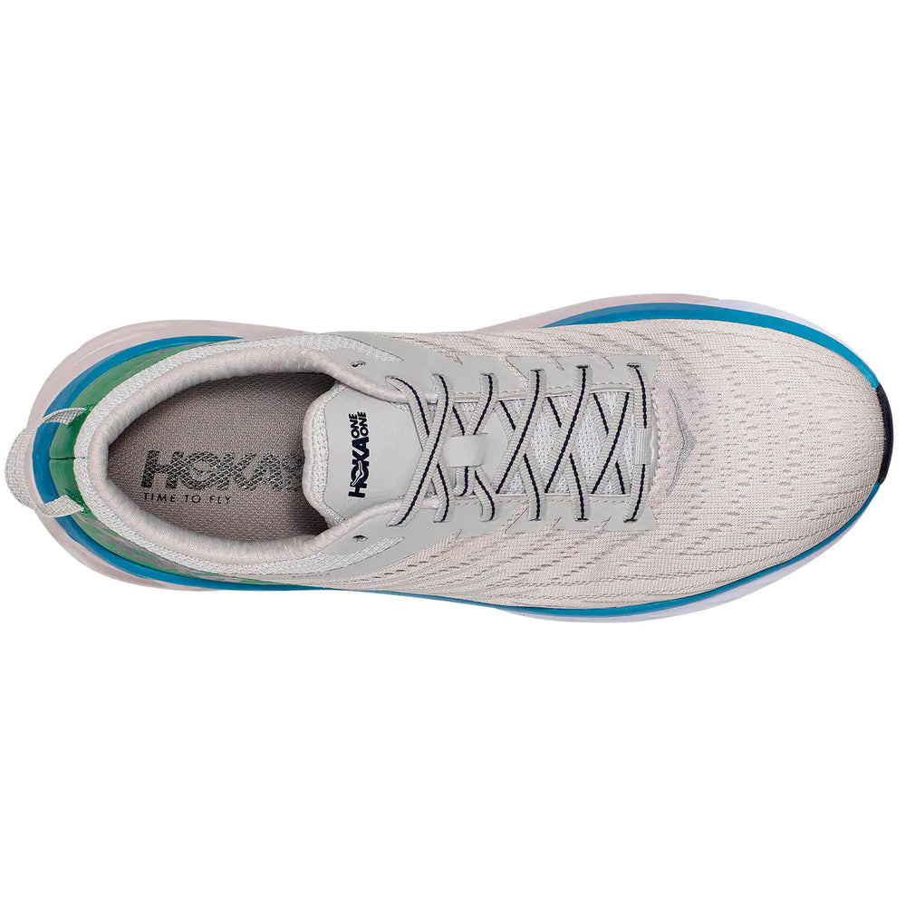 Hoka Men's Arahi 4 2E Width Running Shoes Lunar Rock / Nimbus Cloud - achilles heel