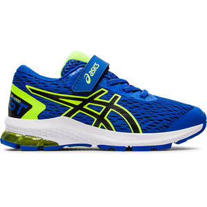 Asics Kids GT 1000 9 PS Running Shoes Tuna Blue / Black - achilles heel