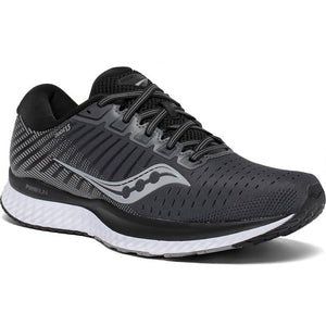 Saucony Women's Guide 13 Running Shoes Black / White - achilles heel