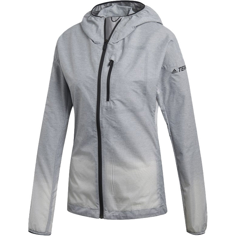 adidas Women's Terrex Agravic Windweave WindBreaker Jacket Grey Three / White - achilles heel