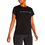 Asics Women's Sound Mind Sound Body Tee II Performance Black - achilles heel