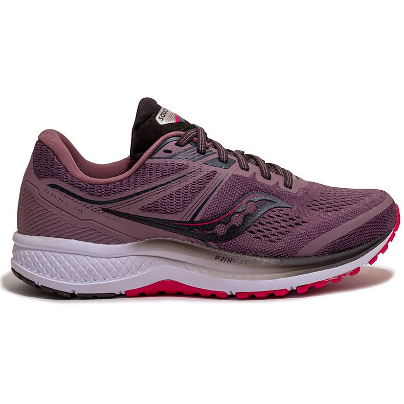 Saucony Women's Omni 19 Running Shoes Dusk / Berry - achilles heel