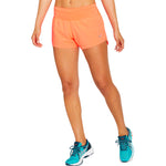 Asics Women's Road 3.5 Inch Short Flash Coral - achilles heel