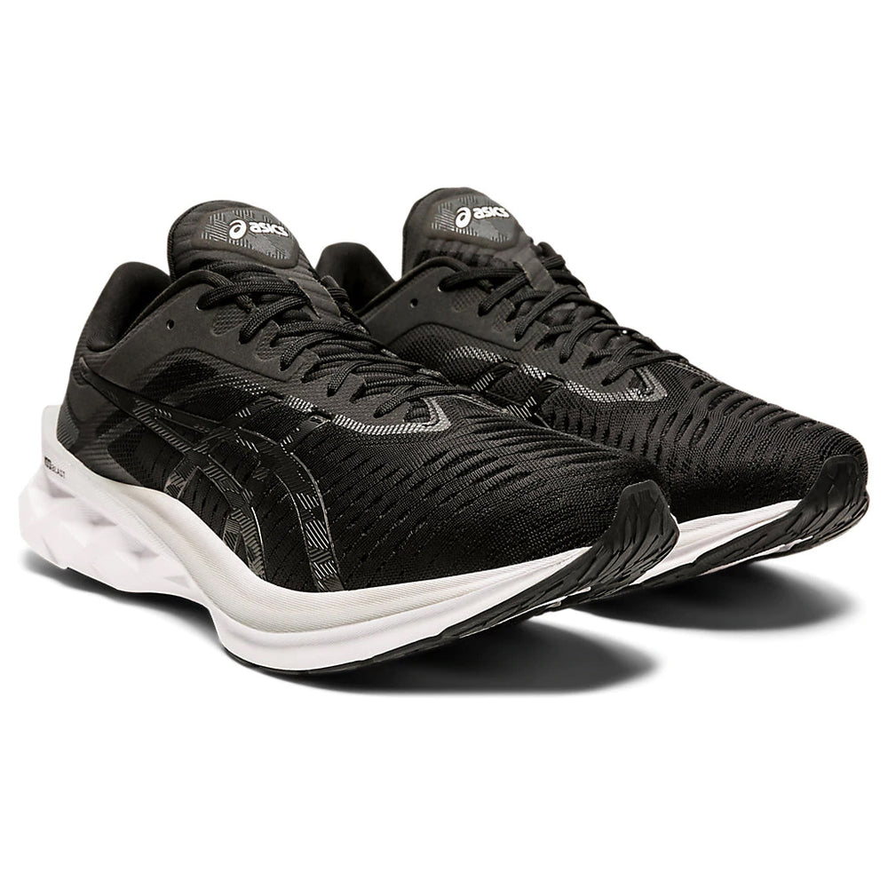 Asics Men's Novablast Running Shoes Black / Carrier Grey - achilles heel