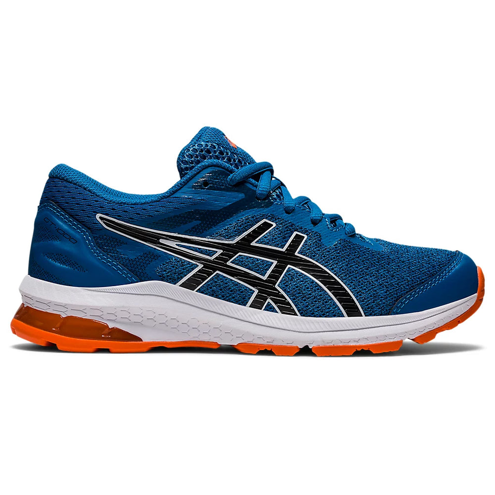 Asics Kids GT 1000 10 GS Running Shoes Reborn Blue / Black - achilles heel