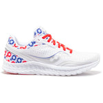 Saucony x prinkshop Men's Hero Kinvara 11 White / Red / Blue - achilles heel