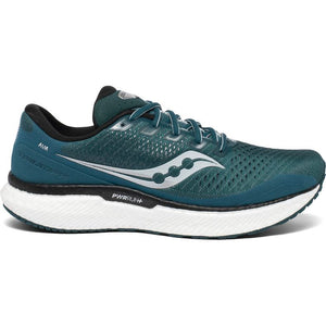 Saucony Men's Triumph 18 Running Shoes Deep Teal / Silver - achilles heel