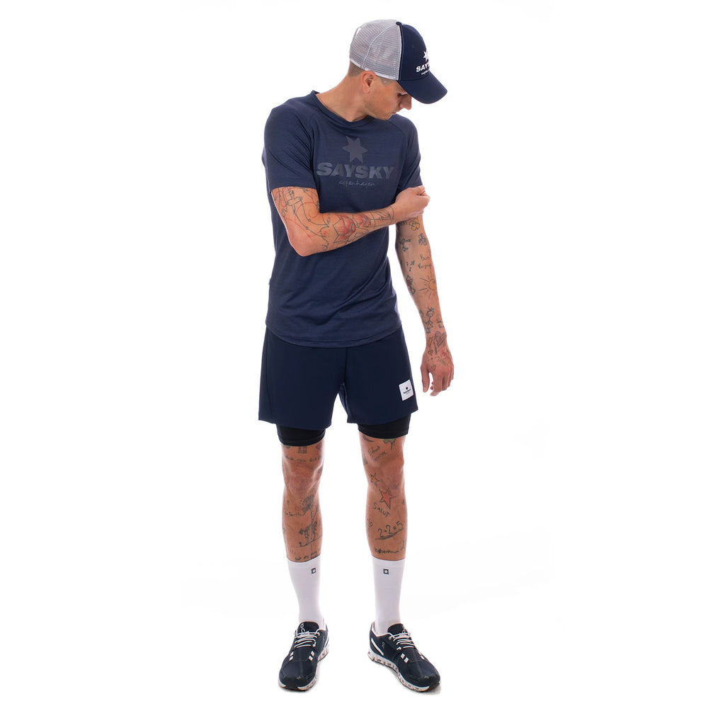 SAYSKY 2 In 1 Shorts Maritime Blue - achilles heel