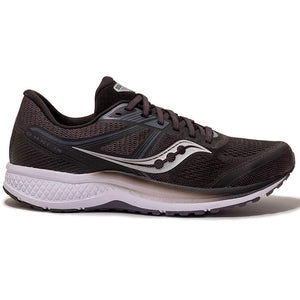 Saucony Men's Omni 19 Running Shoes Black / White - achilles heel