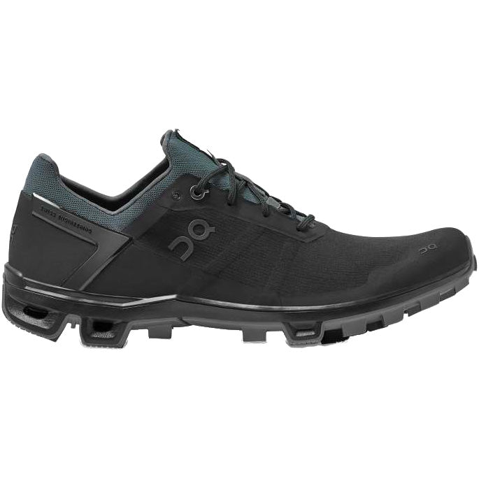 On Men's Cloudventure Peak Trail Running Shoes Black / Rock - achilles heel