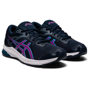 Asics Kids GT 1000 10 GS Running Shoes French Blue / Digital Grape - achilles heel
