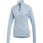adidas Women's Trace Rocker Top Blue