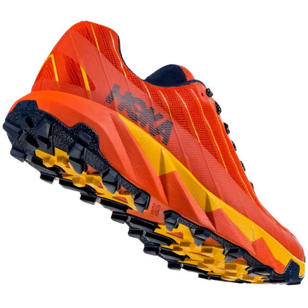 Hoka Men's Torrent Trail Running Shoes Tangerine Tango / Old Gold - achilles heel