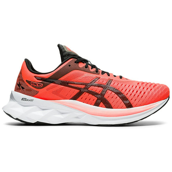 Asics Men's Novablast Tokyo Running Shoes Sunrise Red / Black - achilles heel