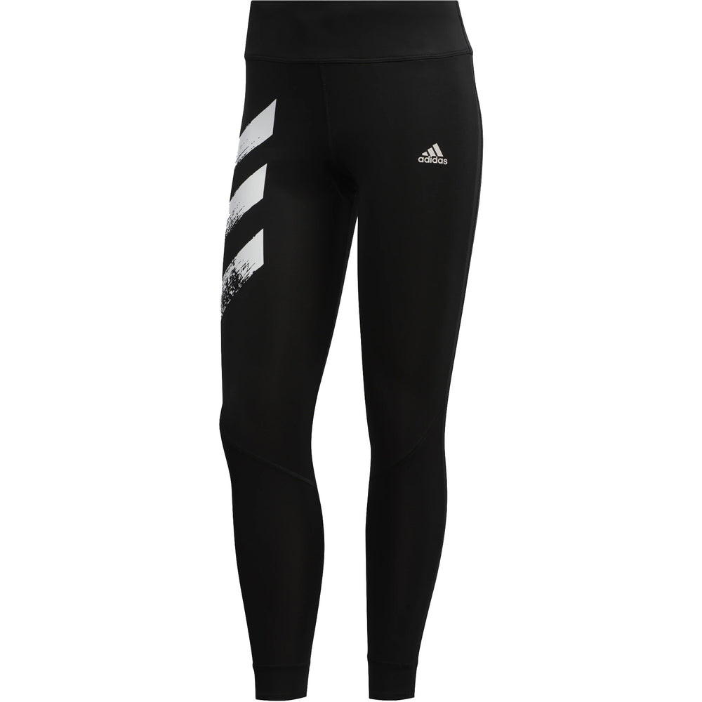 Adidas Women's Own The Run 7/8 Tight Black / White / White - achilles heel